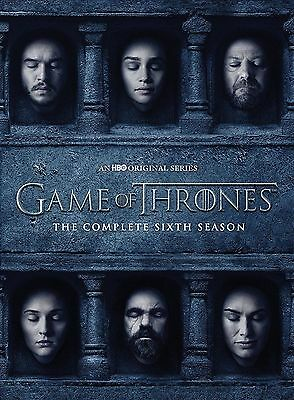 Game of Thrones The Complete Sixth Season 6 DVD 2016 New Free  Shipping