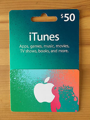 Brand New Apple iTunes 50 Gift Card