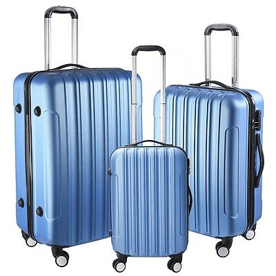 3Pcs Luggage Travel Set Bag ABS-PC Wheeled Trolley Suitcase Code Lock 202428