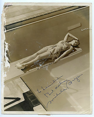 MICHELE MORGAN French Actress Vintage 1941 Signed 8x10 Photo