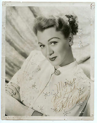 EVE ARDEN American Actress Vintage 1940s Signed 8x10 Photo