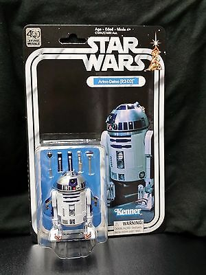 Star Wars 40th Anniversary R2-D2 black series 6 scale figure carded
