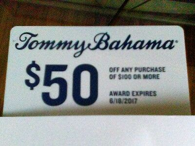 50 off 100 Tommy Bahama Gift Card USPS Delivery Good until 618