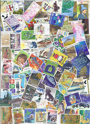 Japan Collection Packet of 100- Used Commemoratives - 20 FREE Definitives