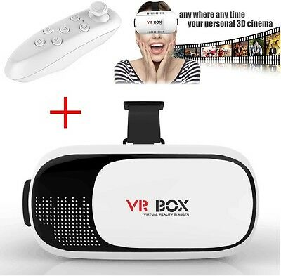 2nd Gen VR Box Virtual Reality Glasses Goggle Headset 3D Movie Game - Bluetooth