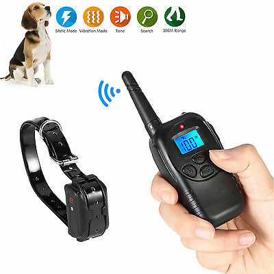 New Rechargeable Waterproof Remote Electric Shock Vibrate Dog Training Collar