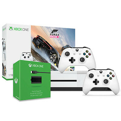 Xbox One S 1TB Forza Horizon 3 Bundle - Xbox Controller - Play and Charge Kit