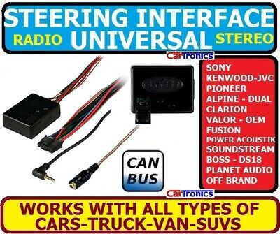 CAR STEREO RADIO STEERING WHEEL CONTROL RETENTION INTERFACE ADAPTER UNIVERSAL