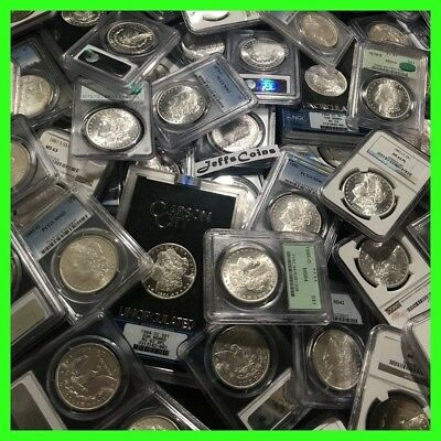 ✯Estate Coin Lot US Morgan Silver Dollars ✯1 PCGS or NGC UNC ✯ O S P CC Mint✯
