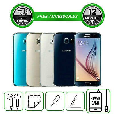 Samsung Galaxy S6 G920 32GB 64GB 128GB Smartphone Unlocked Sim Free All Colours
