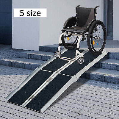 246810ft Folding Aluminum Wheelchair Ramp  Portable Mobility Scooter Carrier