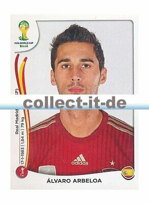 PANINI WM WORLDCUP 2014 STICKER 114 ALVARO ARBELOA