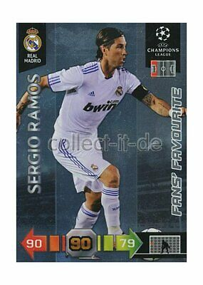 PANINI ADRENALYN XL CHAMPIONS LEAGUE 10 11 248 SERGIO RAMOS FANS FAVOURITE