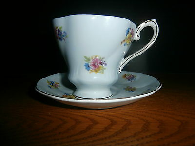 VINTAGE  ROYAL GRAFTON  FOOTED TEA CUP W SAUCER EX CONDITION