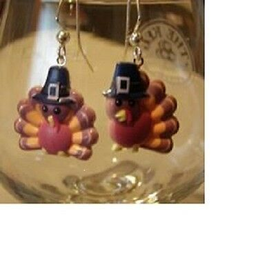 Turkey earrings 4 styles to choose from  Thanksgiving Ear Decorations by Robyn