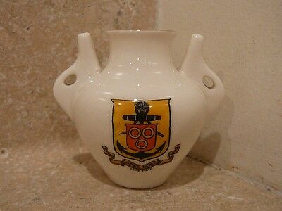 VINTAGE WH GOSS CRESTED CHINA CAPE TOWN ANCIENT JARRA LAS PALMAS GRAND CANARY