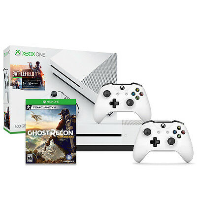 Xbox One S Battlefield 500GB - Xbox Wireless Controller - Ghost Recon Wildlands