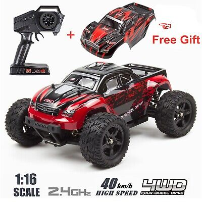 REMO 116 RC Monster Truck 2-4Ghz 4WD Off-Road Brushed Remote Control Car Red