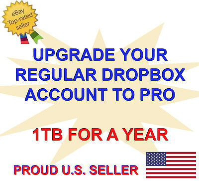 Upgrade Dropbox Account to Dropbox Plus Pro - 1TB for a Year - Cloud Storage