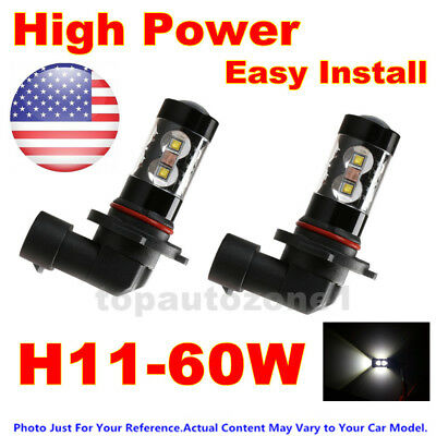 2x Fog Lights for 2007-2014 Toyota Camry 60W High Power LEDs Bulbs White US