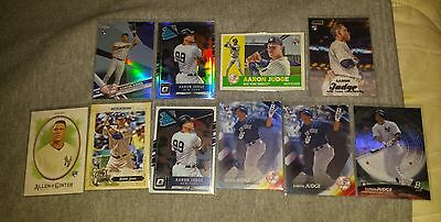 Aaron Judge 2017 Topps ChromeBowman Platinum and MORE 10 CARD ROOKIE LOT