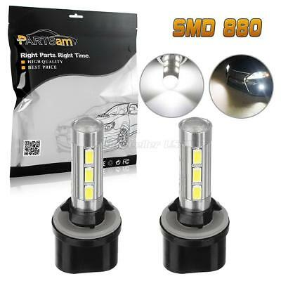 2pcs 880 892 893 899 6000K White 14-5730-SMD LED Bulbs Fog Light Driving Lamp