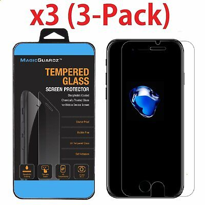 3-Pack Premium Real Tempered Glass Screen Protector For Apple iPhone 8  8 Plus