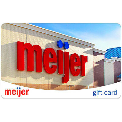 100 Meijer Gift Card For Only 94 - FREE Mail Delivery