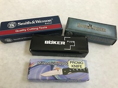 1- Lot of Pocket Knives - Boker Rough Rider Smith and Wesson - Promo Knife
