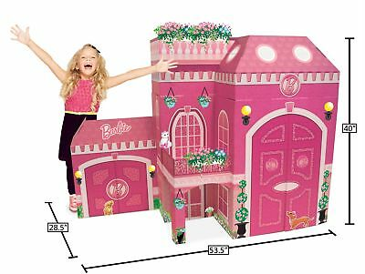 Barbie Doll  Full Size Play Dream House Balcony Windows Child Kid Girl Toys Pink