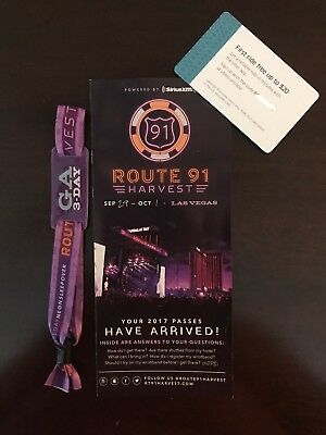 ONE Route 91 Harvest Festival 3 Day PassFREE UBER RIDE CODE- FREE OVERNIGHT