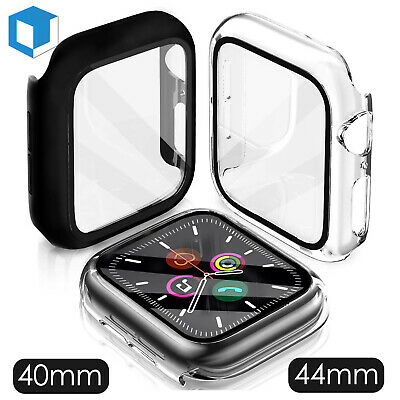 For Apple Watch Series 654 Case Cover Built in Tempered Glass Screen Protector