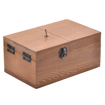 Useless Box Leave Me Alone Turn itself Off Pastime Wooden Machine Box Kid Toy