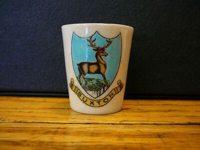 VINTAGE WH GOSS CRESTED ARCADIAN CHINA BUXTON DERBYSHIRE CUP VASE SHOT GLASS
