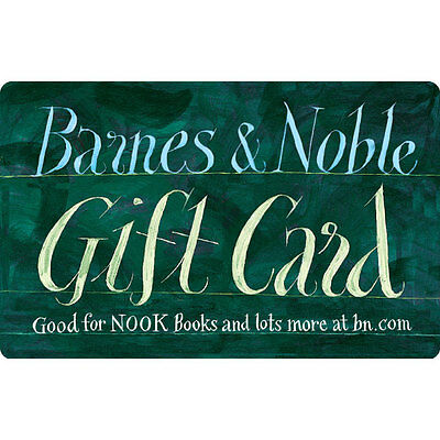 100 Barnes - Noble Gift Card For Only 90 - FREE Mail Delivery