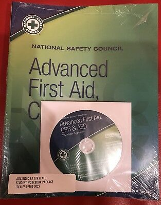 NEW National Safety Council Advanced First Aid CPR - AED Include DVD