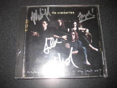THE CRANBERRIES SIGNED CD DELORES ORIORDAN and WHOLE BAND W COA