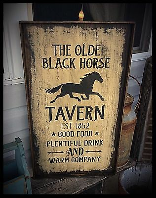 Handmade Heavily Distressed And Framed Sign-Vintage Advertising Tavern EAAM