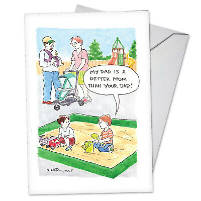 1 Funny Fathers Day Card with Envelope - Better Dad C3622FDG