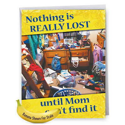 1 Large Funny Mothers Day Greeting Card - Nothing Lost Mom J9845MDG