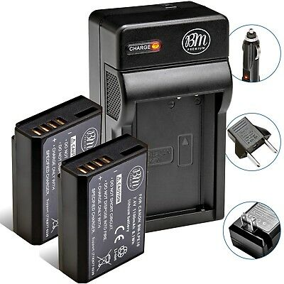 2 Pack LP-E10 Battery - Charger for Canon Rebel T3 T5 T6 T7 EOS 1200D 1300D