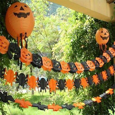 HALLOWEEN SPIDER PUMPKIN SCARY WITCH GARLAND PAPER DECORATION HAUNTED HOUSE