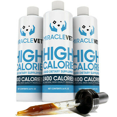 Miracle Vet Dog weight gainer supplement — 2400 calories per bottle
