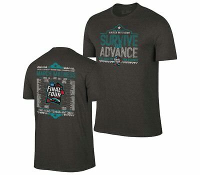 2018 Adult Survive And Advance March Madness T-Shirt  - Charcoal