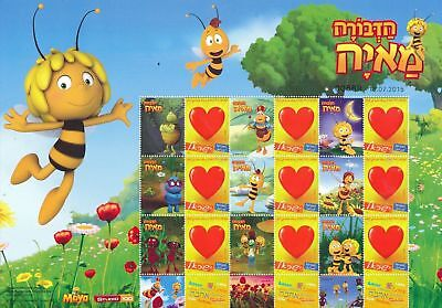 ISRAEL 2015 My Own Stamps  MAYA THE BEE STAMP SHEET MNH