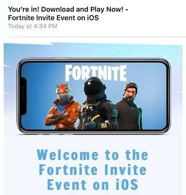 Fortnite Battle Royale Mobile iOS - Instant Delivery - Play Today