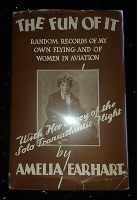 THE FUN OF IT 1st EDITION 1st PRINTING in DJ - SIGNED AMELIA EARHART JSA LETTER