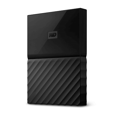 WD My Passport 1TB Black Manufacturer Refurbished Portable Hard Drive by West-