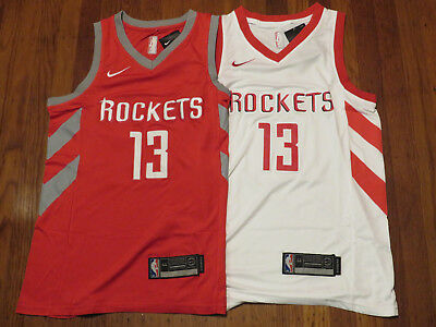 James Harden Houston Rockets swingman Red White Stitched Men Jersey w Tag NEW