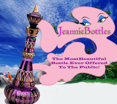 NEW MIRRORED RICH PURPLE I DREAM OF JEANNIEGENIE BOTTLE  LIMITED